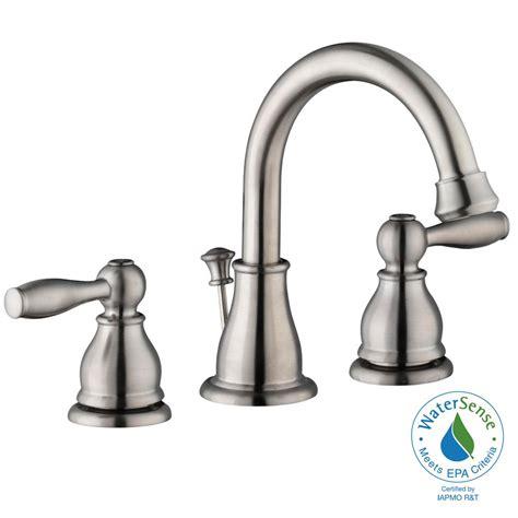 glacier bay mandouri 8 in widespread 2 handle high arc bathroom faucet in brushed nickel