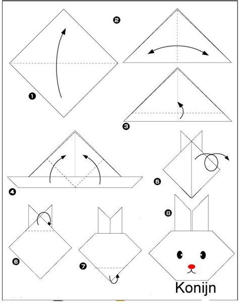 Bootje Servet Vouwen by Origami Konijn Vouwen Papierov 233 Skladačky Origami