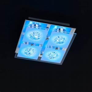 Deckenlampe Mit Led : led deckenlampe mit einem rgb farbwechsler und fernbedienung sowie einer l nge von 22 cm ~ Whattoseeinmadrid.com Haus und Dekorationen