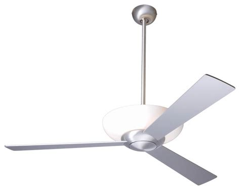 52 quot aluminum finish with uplight ceiling fan contemporary ceiling fans by