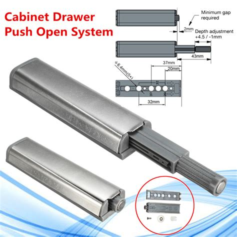 10x push to open latch cabinet door drawer soft der buffer magnetic tip ebay