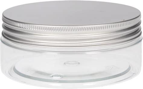 la saponaria pot en plastique transparent avec couvercle en aluminium 200 ml ecco verde suisse