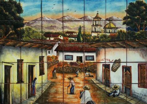 mexican tile backsplash talavera mural mexican tiles 169 kitchen bath stairs