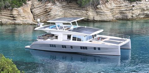 Round Electric Boat by A New Solar And Battery Powered Catamaran With A Virtually