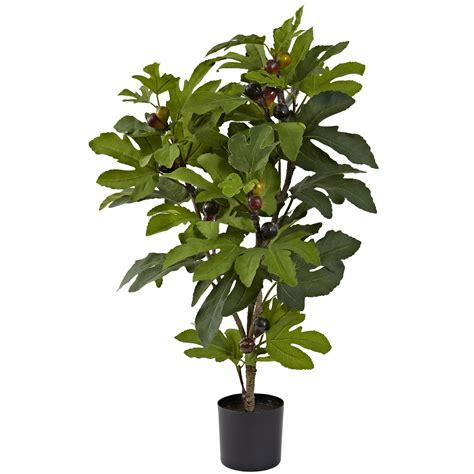 32 inch indoor silk fig tree 42 leaves 15 figs potted 5440