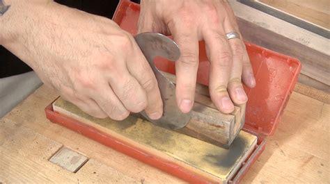 how to sharpen a gooseneck scraper the wood whisperer