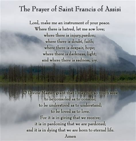st francis of assisi the saints and prayers