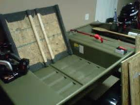 jon boat deck designs more how to build a poling platform