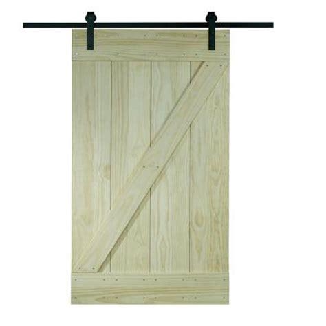 barn door home depot pinecroft 38 in x 81 in wood barn door with sliding door