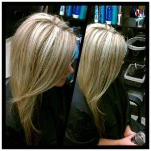 Fresh color for fall. Blonde highlights + caramel lowlights.