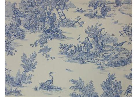 tissu 100 coton motif toile de jouy