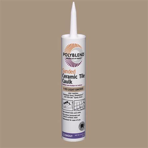 custom building products polyblend 145 light smoke 10 5 oz sanded ceramic tile caulk pc14510s
