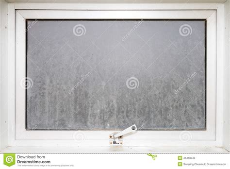frame window glass opaque with white aluminium stock photo image 46418249