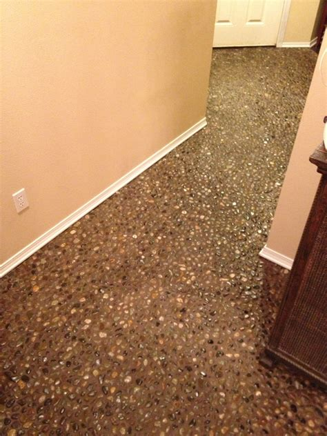 69 diy river rock pebble laid floor oooh i