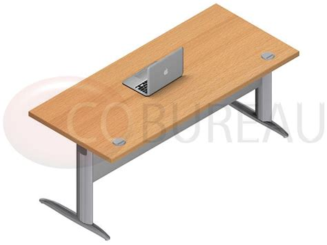 bureau droit pro m 233 tal 180 cm pieds en forme i