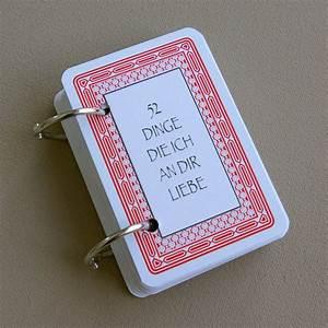 Geschenkideen Zum Selber Basteln Zum Geburtstag : 52 dinge die ich an dir liebe karten kartenspiel valentinstag geschenk selber basteln diy ~ Markanthonyermac.com Haus und Dekorationen