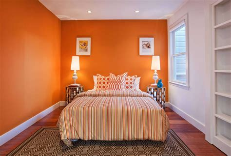 Orange Paint Colors For Bedroom  Home Combo