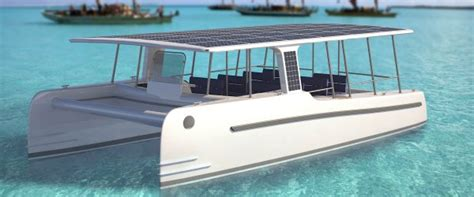 Catamaran Electric Engine by Soelcat 12 Solar Powered Catamaran Energy Matters