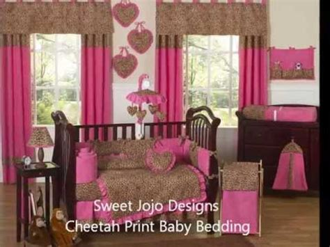 cheetah baby bedding animal print nursery decor