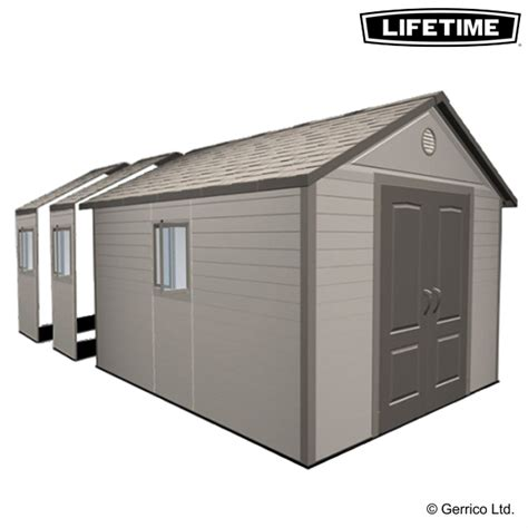 lifetime 11x21 plastic apex shed