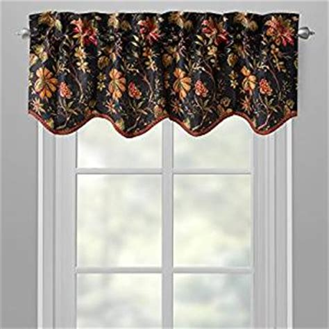 waverly black felicity felicite scallop floral window valance home kitchen