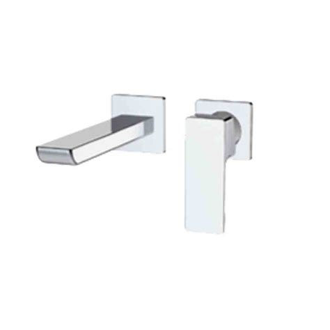 fluid single lever wall mounted faucet trim free