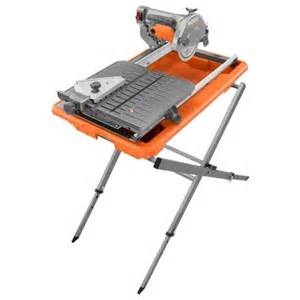 7 in site tile saw with laser ridgid professional tools
