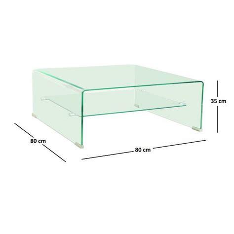 tables basses meubles et rangements wave table basse carr 233 e en verre plateau 80x80 cm