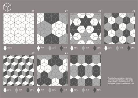 carrelage losange diamant 14x24cm rhombus 3 dimensions