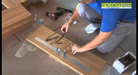 montage d un escalier design en kit kalea droit sogem
