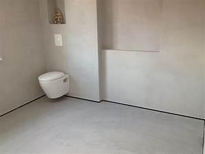 Beton Cire Verarbeitung : beton cir douche gespecialiseerd in beton cir en stucwerk ~ Markanthonyermac.com Haus und Dekorationen