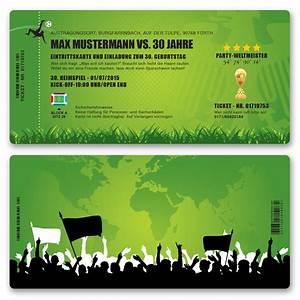 Einladung Kindergeburtstag Gestalten : einladungskarten zum geburtstag als fussballticket einladung fussball ebay ~ Markanthonyermac.com Haus und Dekorationen