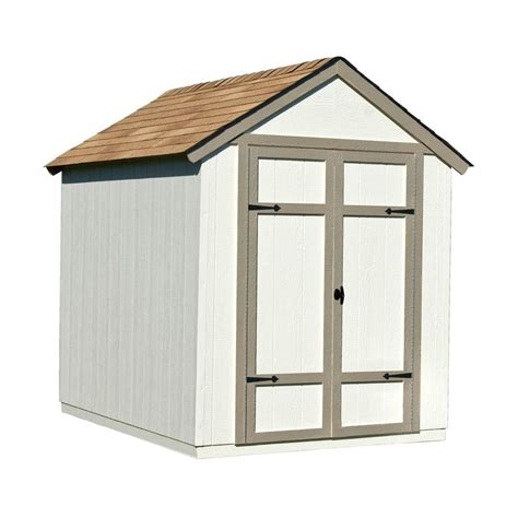 6 x 8 foot wooden shed handy home products sherwood 6 ft x 8 ft wood shed kit
