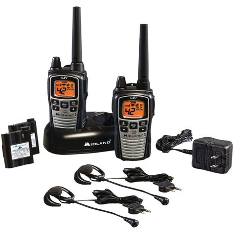 new midland gxt860vp4 two way radio walkie talkie 42 channel 36 mile range gmrs 46014508057 ebay