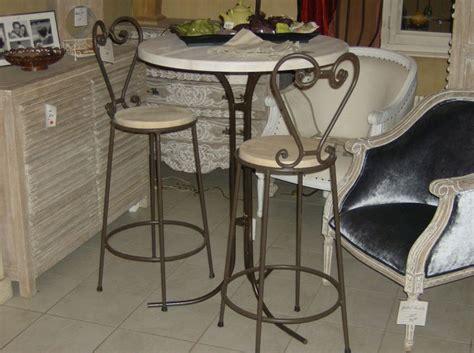 sup 233 rieur table de cuisine avec tabouret 3 table de bar fer forge et bois lertloy