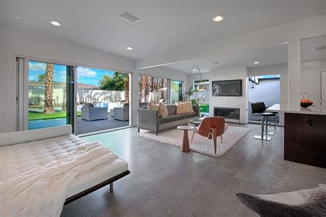 Modern Living Room With Concrete Floors By Neil Curry On