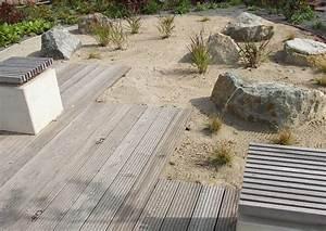 Steingarten Ideen Bilder : terrassen holzdeck mit fugen trockengarten ~ Whattoseeinmadrid.com Haus und Dekorationen