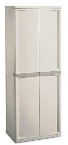 01428501 sterilite 4 shelf utility cabinet with putty handles platinum complete set
