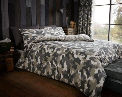 army camouflage camo duvet quilt cover bedding linen set pillowcase ebay