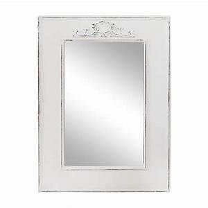 Wandspiegel Groß Weiß : wandspiegel landhaus wei shabby chic holz spiegel mit ornament antik ~ Markanthonyermac.com Haus und Dekorationen