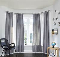 curtains for bay windows Bay Window Curtain Rod in Curtain Rods and Hardware