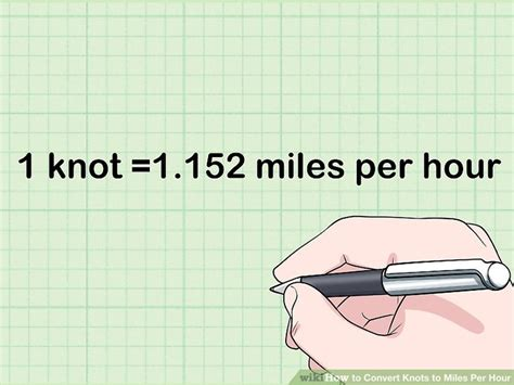 Convert Boat Hours To Miles by 3 Ways To Convert Knots To Miles Per Hour Wikihow
