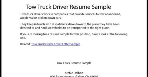 Great Sample Resume Tow Truck Driver Resume Sample. Sample Of How To Write Applications Letter. Sample Of Cover Letter Examples Australia. Petty Cash Excel Template. Free Powerpoint Dashboard Template. Seats Lesson Plan Format Template. Travel Brochure School Project Template. Business Financial Planning Spreadsheet. Certificate Template Software 788583