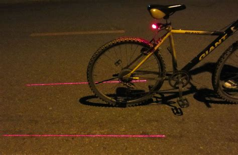 New Bike Bicycle Laser Light Beam Rear Tail Led Light Lamp 3 Led Safety Light Ebay