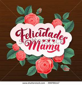 Happy Mothers Day Congratulations Mother Spanish Stock ...