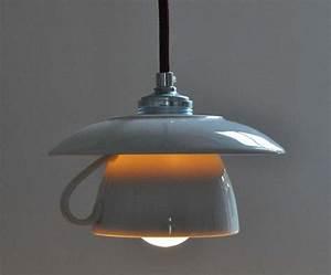 Lampen Selber Herstellen : h ngelampen tassenlampe mit bordeauxfarbenem kabel ein designerst ck von der lampenladen bei ~ Markanthonyermac.com Haus und Dekorationen