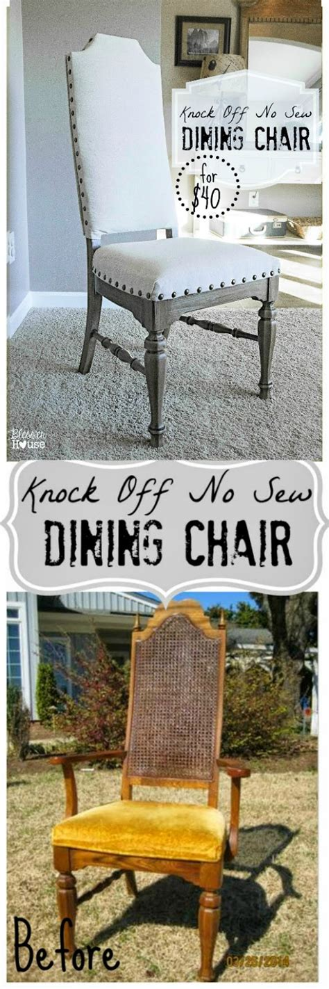 knock no sew dining chairs chair makeover dining
