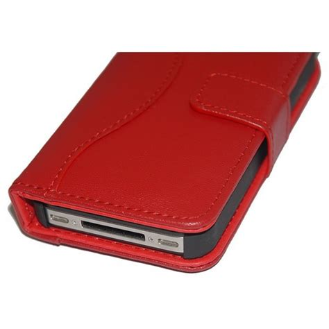 housse etui en cuir ouverture portefeuille pour iphone 4 4s htcn