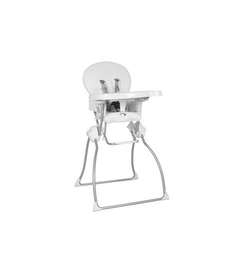 joovy nook high chair in white leatherette