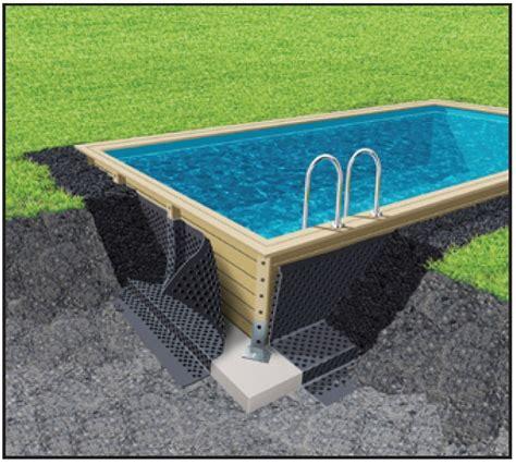 piscine en bois kit piscine bois prix discount
